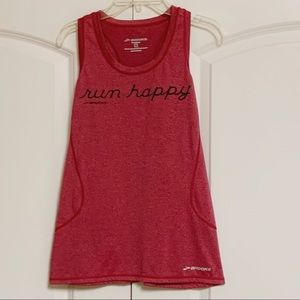 Brooks Red Black Run Happy Tank S